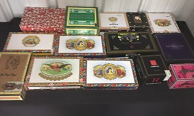 Empty Cigar Boxes!! Large Lot of 15 Assorted! A24