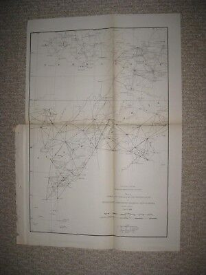 Rare Antique 1889 Alabama Georgia Tennessee Coast Survey Maritime Map Chart Fine