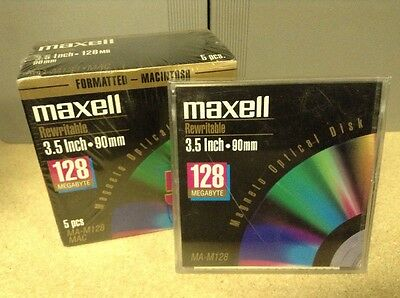 220x Maxell Rewritable 128MB 3.5 Inch (90 mm) Magneto Optical Disk MA-M128