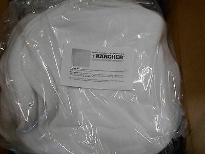 "10-Pack Karcher 21"" Absorbent Carpet Cleaning Pads 8.637-464.0 White Terry Cloth"