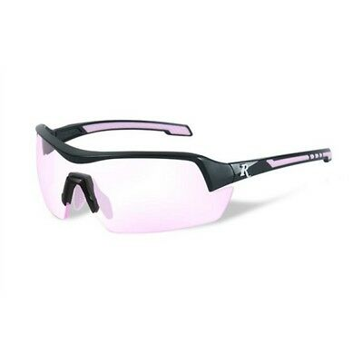 Wiley X RE201 Platnium Grade Eyewear Woman Sunglasses Rose Lens Black/Pink Frame