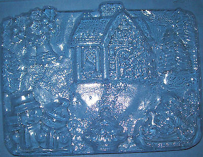 Large Rectangle Shape With A Christmas Scene Chocolate Mould Or Plaster Mould