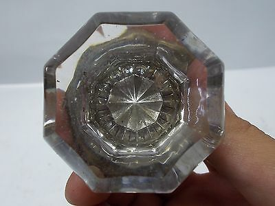 Antique Collectible Victorian Crystal Glass Door Knob Handle Pull