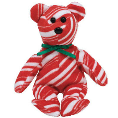TY Jingle Beanie Baby - PEPPERMINT the Bear (Walgreens Exclusive) - MWMTs