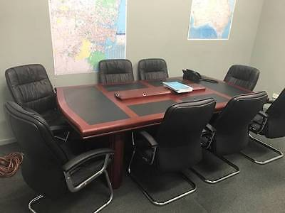 Boardroom Table & 8 Chairs Pick Up Hallam 3803