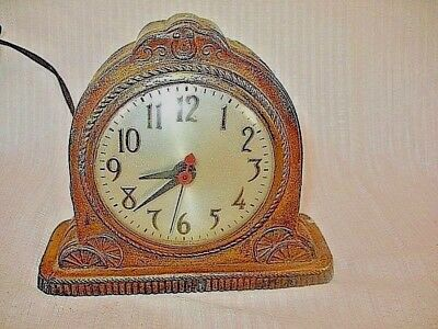 VINTAGE OLD  Western Cowboy Country Primitive WORN SHABBY NOT WORKING CLOCK
