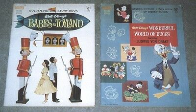 Golden Picture Story Book Disney Babes in Toyland & World of Ducks 1961