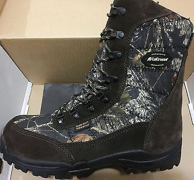 "NIB MEN'S LaCrosse 541013 SILENCER  8"" CAMO OUTDOOR HUNTING SNOW BOOTS $150"