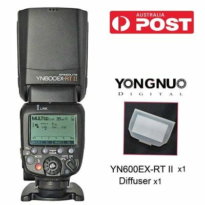 Yongnuo YN600EX-RT II Wireless Speedlite Flash Kit Bounce Diffuser for Canon AU