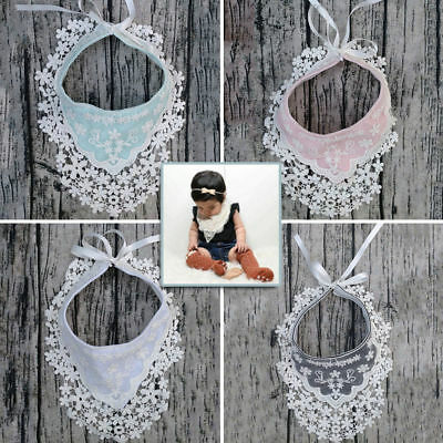 Bib Triangle Girls Baby Bandana Towel Head Scarf Dribble Saliva Feeding Lace