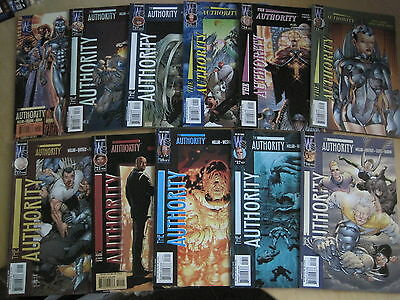 The AUTHORITY : 11 issue bundle: 16,17,18,21-25,27,28,29 by MARK MILLAR etc.2000