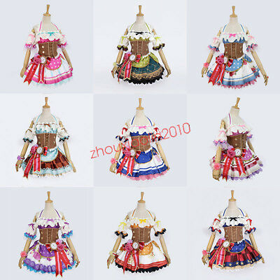 LoveLive Sunshine Aqours Valentine's Day Maid Awakening Dress With Hat Cosplay