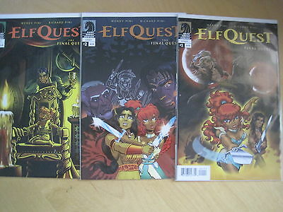 ELFQUEST : The FINAL QUEST issues 1,2,3 by WENDY & RICHARD PINI. DARK HORSE.2014