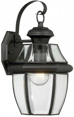 Home Mounted Decor Portfolio Brayden 14.13in Mystic Black Outdoor Wall Light NEW