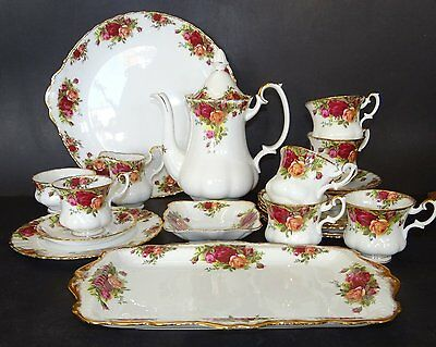 "Kaffeeservice ""Royal Albert"" Country Rose, für 6 Personen, 24 Teile"