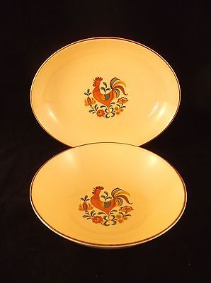 2 Taylor Smith & Taylor Reveille Serving Bowls - Oval and Round