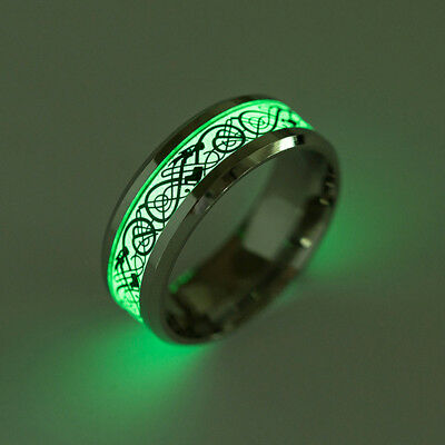 Dragon Design Stainless Steel Classic Band Ring For Men Women Size 6-13 Lively