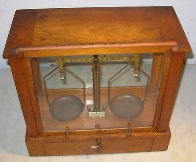 Antique Fairbanks New York Jewelers Apothecary Encased Balance Scale USA 1800's