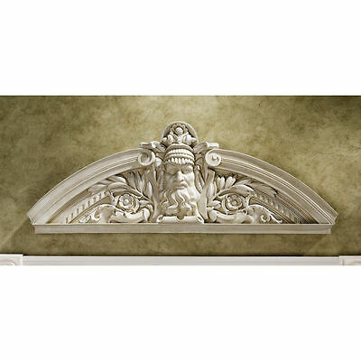 Sculpted Classical Greek God Wall Sculpture Pediment Door Decor NEW
