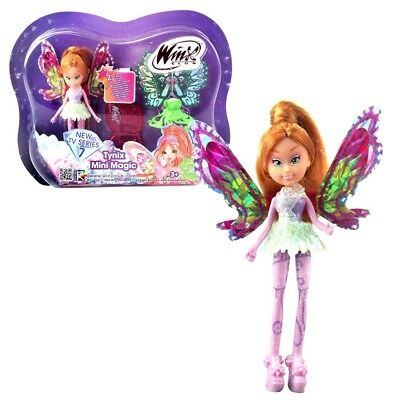 Winx Club - Tynix Mini Magic Puppe - Fee Flora mit Verwandlungsfunktion