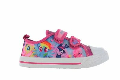 Girls Infant MLP My Little Pony Pink Hook & Loop Trainers Shoes UK Sizes 6 - 12
