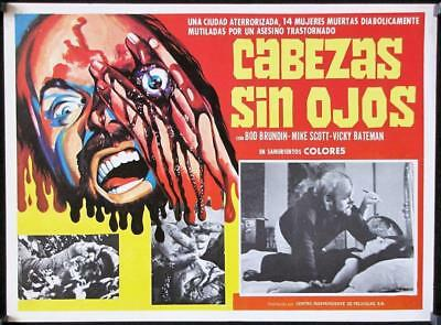 L504 The Headless Eyes, original Mexican Movie Lobby card, Bod Brundin