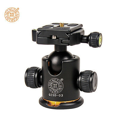 Q03 Professional Swivel Tripod Monopod Ball Head with Fast Mounting Plate Camera