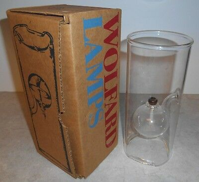 "Wolfard 9"" Hand Blown Glass Oil Lamp in Box"