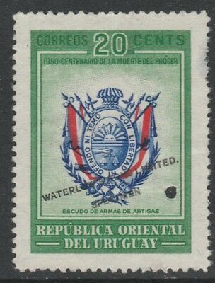 Uruguay 4873 - 1952 Death Centenary of ARTIGAS 20c PRINTER's SAMPLE