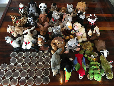 Lot of 40 Coca-Cola Coke Plush Animal Different Countries Around the World Set