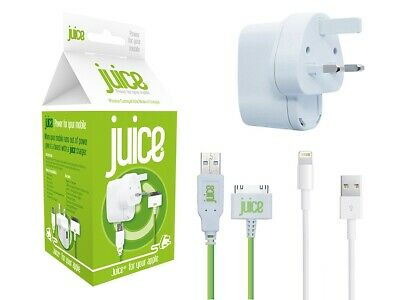 Juice Official Apple 30 Pin Charger for iPhone3G/3GS/4/4S iPad 1/2/3 iPod Nano