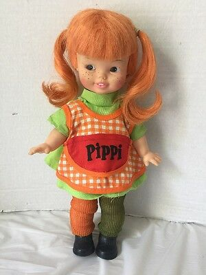 Vintage Pippi Longstocking Doll 1972  Near Mint Condition