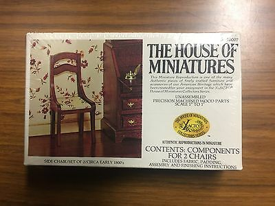 1/12 Scale X-ACTO THE HOUSE OF MINIATURES #40007 SIDE CHAIR SET OF 2 kit