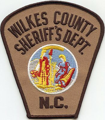 old vintage WILKES COUNTY NORTH CAROLINA NC SHERIFF POLICE PATCH