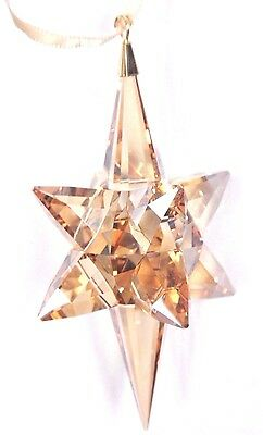 Star Ornament Large Gold Tone Crystal Decor 2017 Christmas Swarovski #5301220