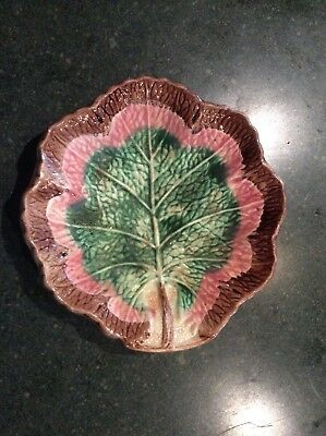 Antique American Majolica Leaf Dish c. 1880-1895