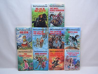 LOT of 10 GREAT ILLUSTRATED CLASSICS Hardcover Children's Books Baronet