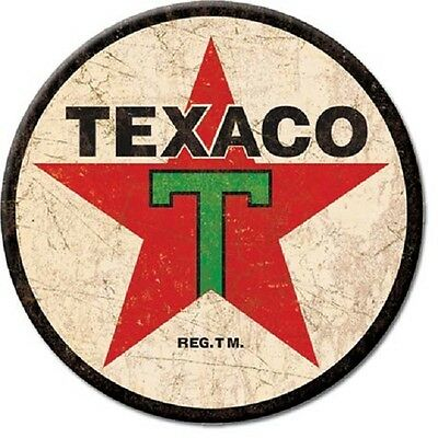 New Texaco Gas 1936 Logo  3 Inch  Miniature Sign Magnet