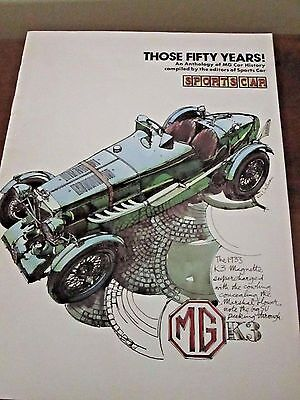 British Sports Car 'Those Fifty Years Anthology'  1975 Vintage