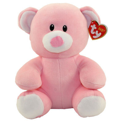 Baby TY - PRINCESS the Pink Bear (Medium Size - 8 inch) - New BabyTy Stuffed Toy