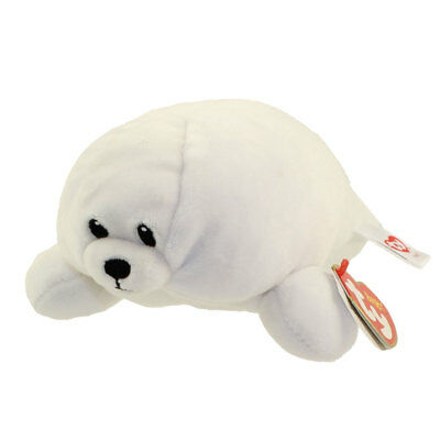 Baby TY - TINY the White Seal (Regular Size - 7 inch) - New BabyTy Stuffed Toy