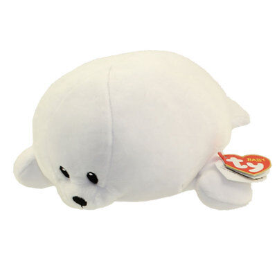 Baby TY - TINY the White Seal (Medium Size - 10 inch) - New BabyTy Stuffed Toy