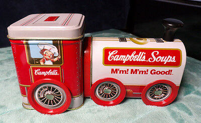 CAMPBELL'S SOUPS ~ TIN TRAIN ~ SPINNING WHEELS ~ M'm! M'm! Good! ~ ENGINE