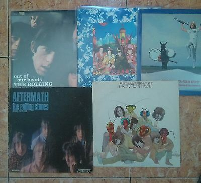 rolling stones  a fantastic lot of 5 lps  records,  album in very god state