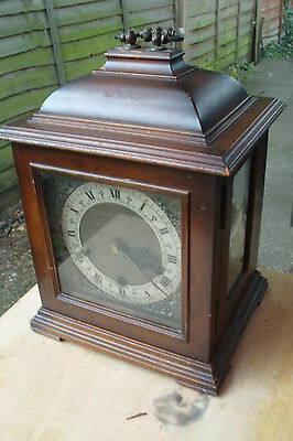 Antique Smiths Bracket Clock Westminster Chimes SEE VIDEO