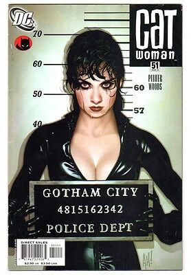 Catwoman #51 (Mar 2006, DC) VG/FN Condition Classic Adam Hughes Cover