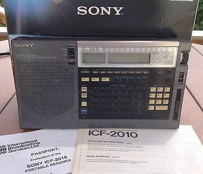 Sony ICF-2010 Shortwave Receiver AIR/FM/LW/MW/SW PPL Portable Radio