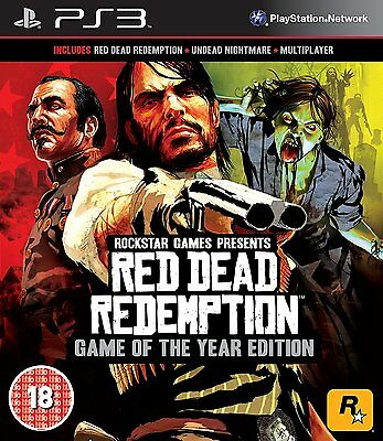 Red Dead Redemption - Game of The Year Edition (PS3) NEW SEALED GOTY