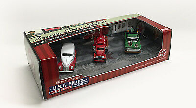 2017 New 3 Texaco Assortment Ford, Gmc, Chevrolet Trucks Usa #6 Series Sold Out