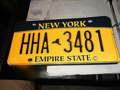 New York 2013 automobile license plate